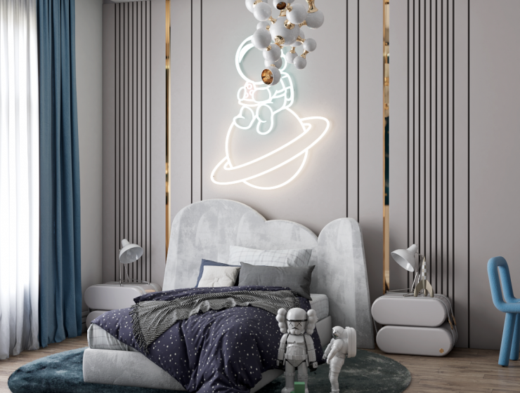 Luxury Kids Bedroom from Outer Space by Renata Aquino From Cozy Studio