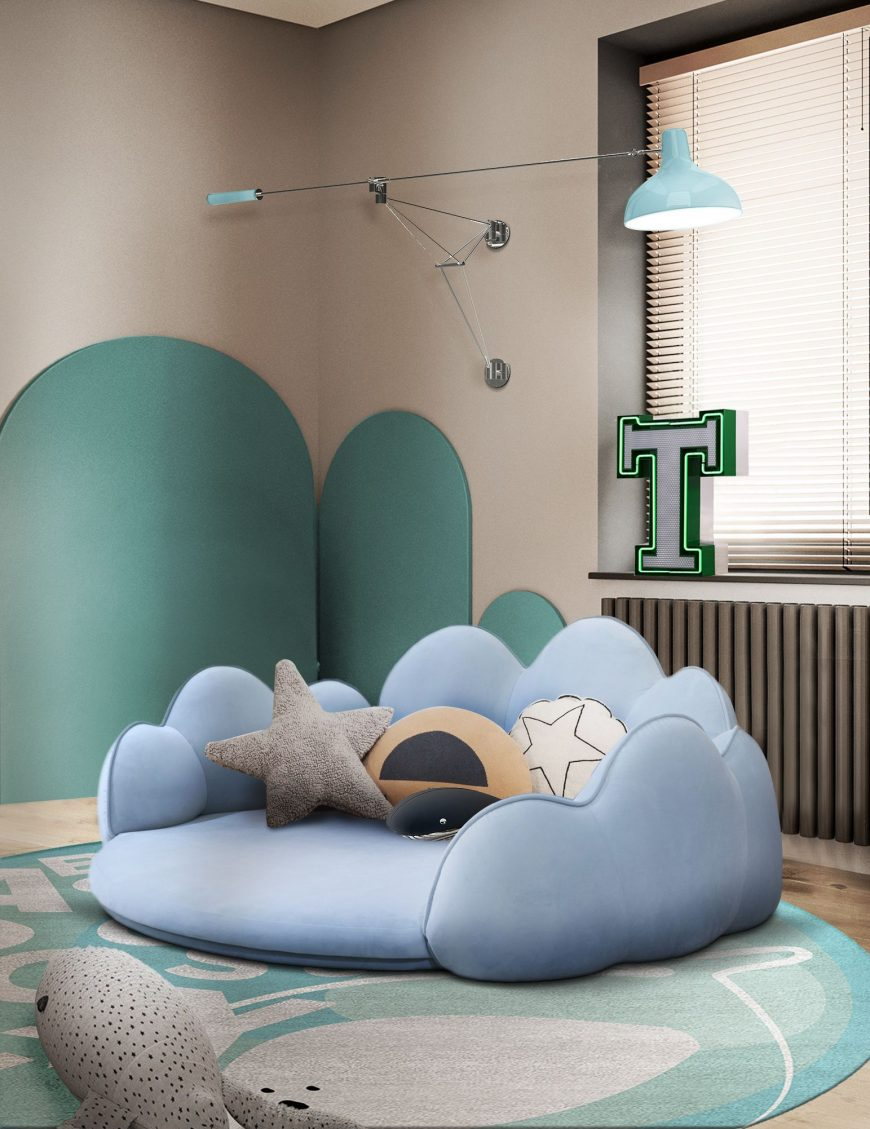 Adorable Play Area for Kids with a Luxurious Play Mat