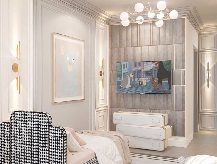 Luxurious Kids Bedroom in Neutral Tones by RD Design Decor