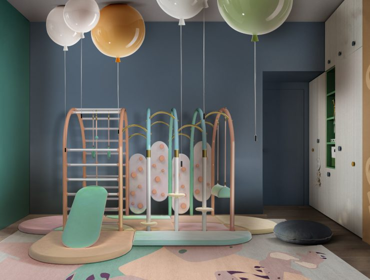 Fun Playroom Design with the most Adorable Colours and Shapes