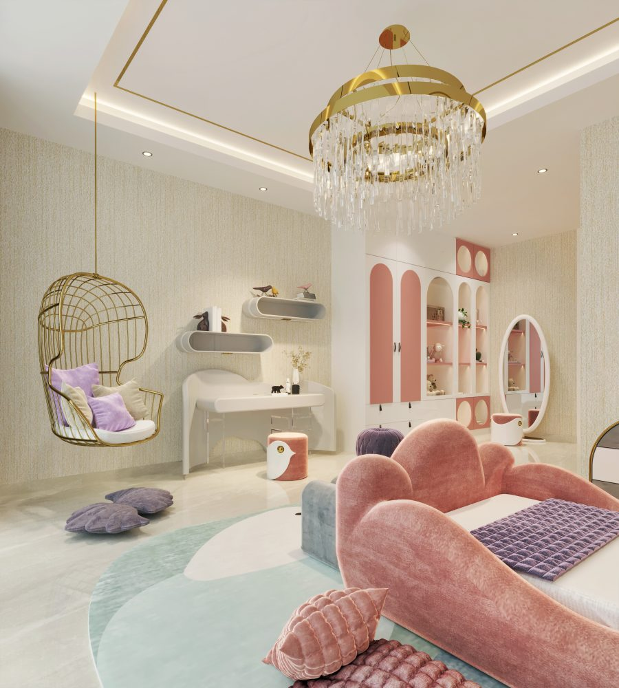 Girly playroom of a little rising star