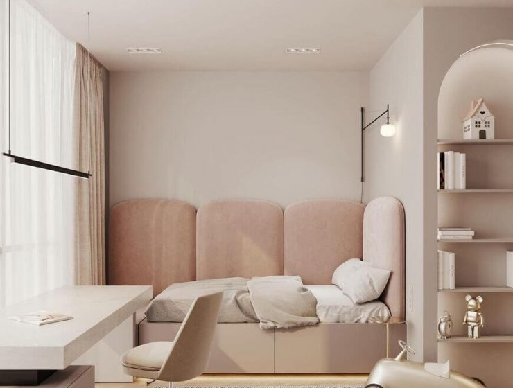 Girls' Bedroom With A Modern Design
